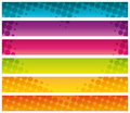 Colorful halftone commercial banners graphic collection Stock Photo