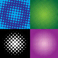 Colorful  halftone dots Royalty Free Stock Photo