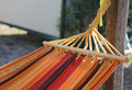 colorful hammock to relax in the bungalow resort Royalty Free Stock Photo