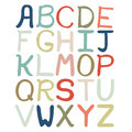 Colorful hand drawn abstract alphabet. Alphabet isolated, flat style, font isolated, type.