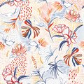 Colorful hand drawn flower ,tropical palm forest, and blooming florals in line sketch mood seamless pattern in vector
