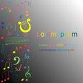 Colorful Hand Drawn Set Of  Mu...