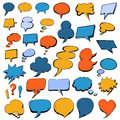 Colorful Hand Drawn Speech Bubbles in doodle style Royalty Free Stock Photo
