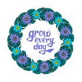 Floral wreath with text