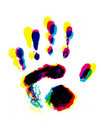 Colorful hand print Stock Photo