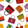 Colorful handbags Seamless pattern.Fashion illustration Royalty Free Stock Photo