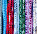 Colorful handicrafted belts Royalty Free Stock Photo