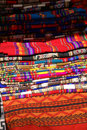 Colorful handmade blankets Stock Photos