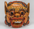 Colorful handmade mask hand carved made in thailand Stock Photos