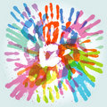 Colorful handprint Stock Images