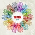 Colorful hands background eps vector illustration Stock Photography
