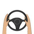 Colorful hands with steering wheel
