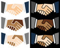 Colorful Handshake Logo Stock Image