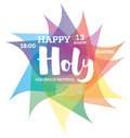 Colorful Happy Holi Background.