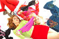 Colorful happy teenagers 9 Royalty Free Stock Image