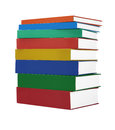 Colorful hardcover books stack of on white background Royalty Free Stock Image