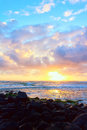 Colorful Hawaiian Sunrise Royalty Free Stock Photography