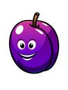 Colorful healthy fresh purple plum Royalty Free Stock Photos