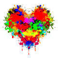 Colorful heart Royalty Free Stock Photos