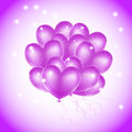 Colorful heart balloons with stars Stock Photos