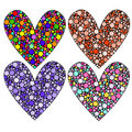 Colorful heart collection Royalty Free Stock Images