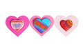 Colorful heart cookies isolated on white background Royalty Free Stock Photo