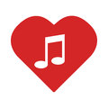 Colorful Heart with musical note