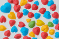 Colorful heart paper  isolate on white background Royalty Free Stock Photo