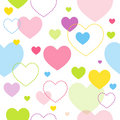 Colorful heart pattern Royalty Free Stock Images