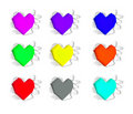 Colorful heart shape. Stock Image