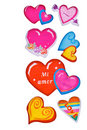 Colorful heart shape isolated on white background Royalty Free Stock Image
