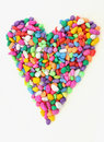 Colorful heart from stones. Royalty Free Stock Photo