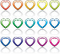 Colorful heart symbols Stock Photos