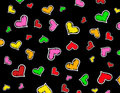 Colorful Hearts background / texture Royalty Free Stock Photography