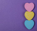 Colorful Hearts. Three Sweethe...