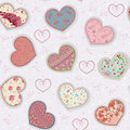 Colorful hearts vector background with valentines Stock Images