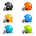 Colorful helmets Stock Photos