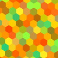 Colorful hexagons illustration. Color art. Warm color mix. Tech matrix. Web site header graphics. Happy holiday back. Frame.