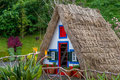 Colorful historical colonist's house at Madeira island Royalty Free Stock Photo