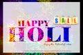 Colorful Holi Sale background