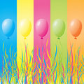 Colorful holiday balloons Stock Photos