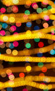 Colorful holiday lights Royalty Free Stock Photo