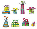 Colorful holiday presents Royalty Free Stock Images