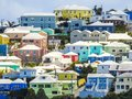 Colorful Homes in Bermuda on a Hilltop Royalty Free Stock Photo