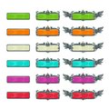 Colorful horizontal buttons for game or web design. Royalty Free Stock Photo