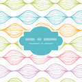 Colorful horizontal ogee frame seamless pattern vector background with hand drawn elements Stock Photos