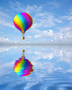 Colorful hot air ballon Stock Photos
