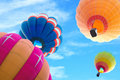 Colorful hot air balloon Royalty Free Stock Image