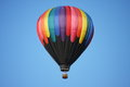 Colorful Hot Air Balloon Against Blue Sky Stock Photography