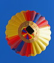 Colorful Hot Air Balloon from Below! Royalty Free Stock Photos